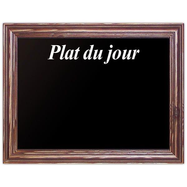 Ardoise noire plat du jour new authentique 40 x 30 cm - par 5