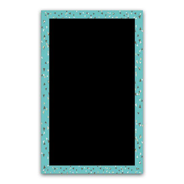 Ardoise cubique turquoise - par 3 (photo)