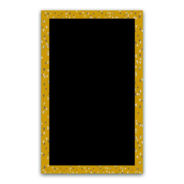 Ardoise cubique moutarde 50 x 80 - par 3 (photo)