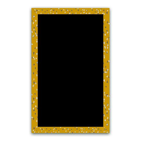Ardoise cubique moutarde 50 x 80 - par 5 (photo)