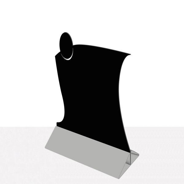 Chevalet de table service priplak noir - par 9