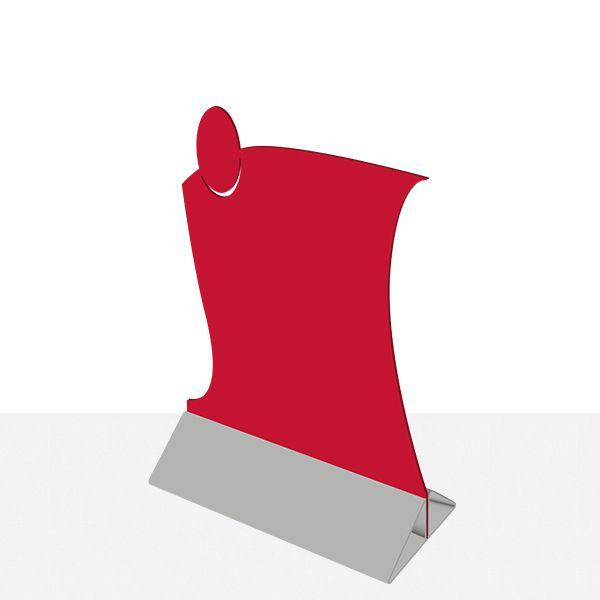 Chevalet de table service priplak rouge - par 6