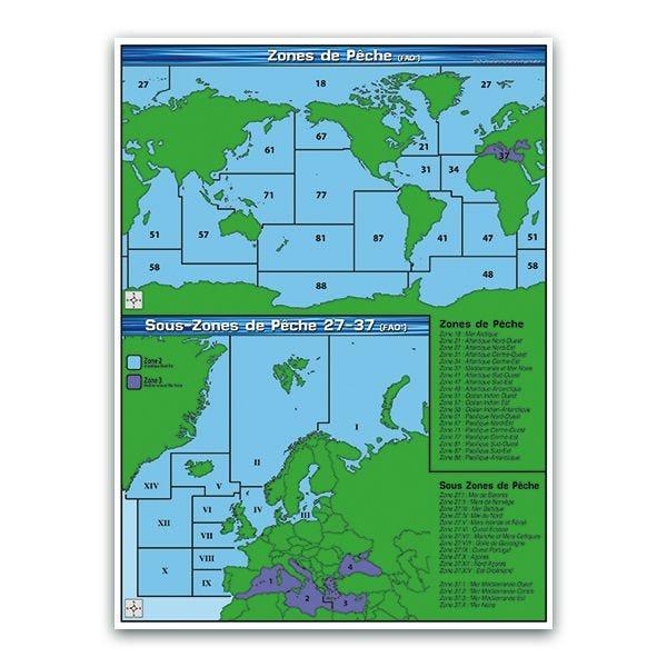 Panneau zones et sous-zones de pêche (fao) - par 5