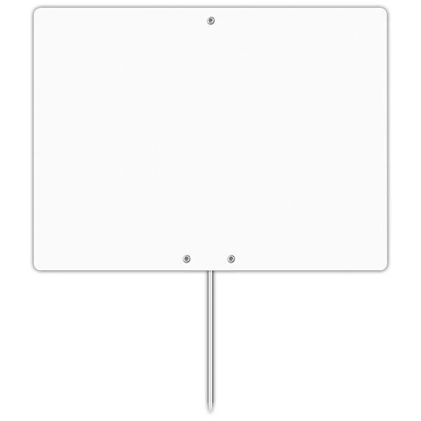 Etiquette blanche vierge avec pique inox 20 x 15 cm - par 30