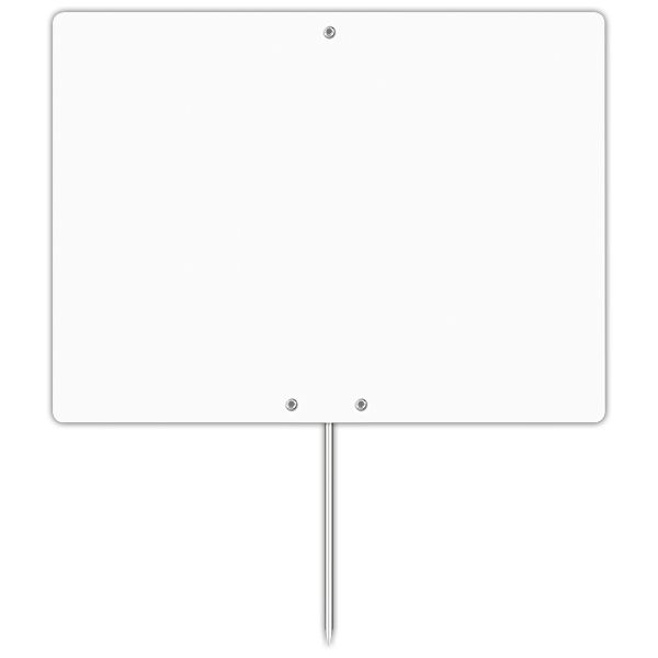 Etiquette blanche vierge avec pique inox 20 x 15 cm - par 50