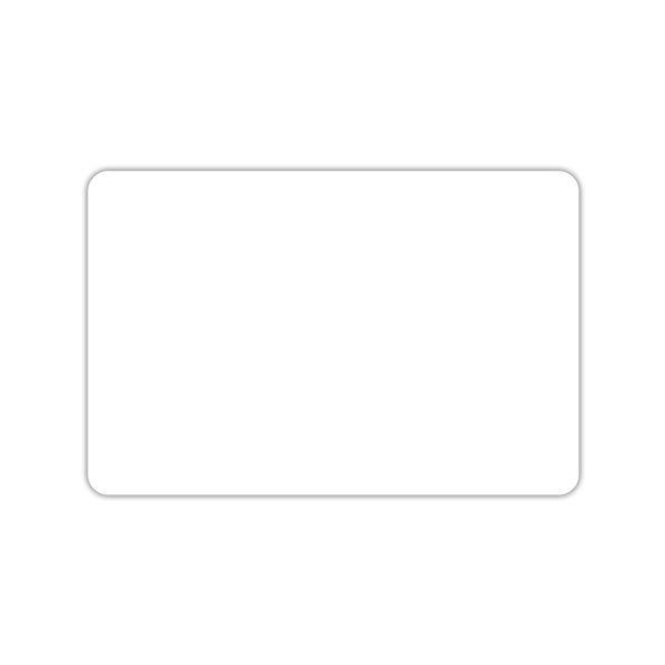 Etiquette blanche vierge sans pique 7 x 10 cm - par 30