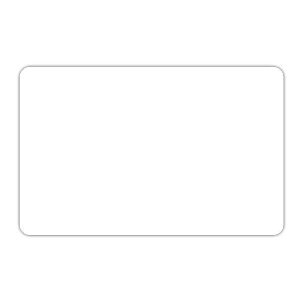 Etiquette blanche vierge sans pique 12 x 8 cm - par 30