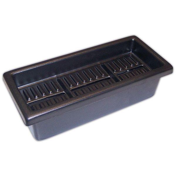 Boite à étiquettes noire 3 cases 37 x 16 cm - par 5 (photo)