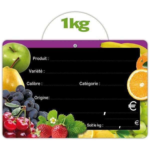 Etiquette panière fruitée vocc 15 x 10 cm - par 30 (photo)