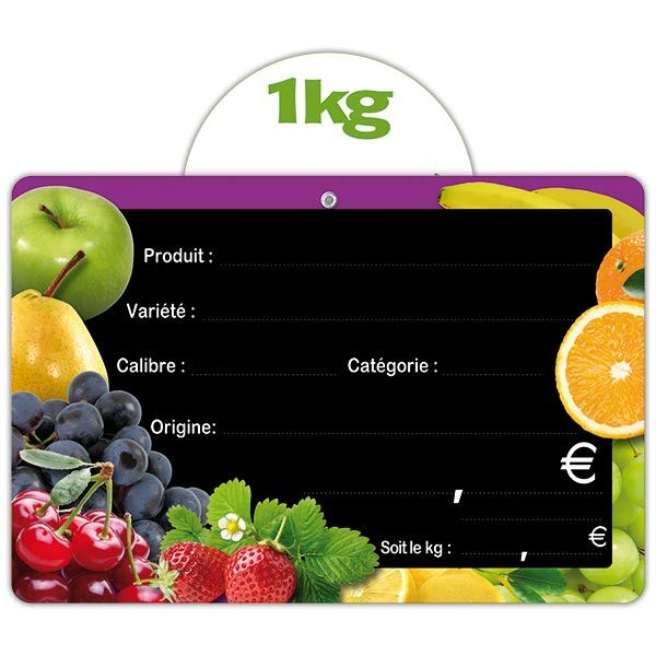 Etiquette panière fruitée vocc 15 x 10 cm - par 50 (photo)