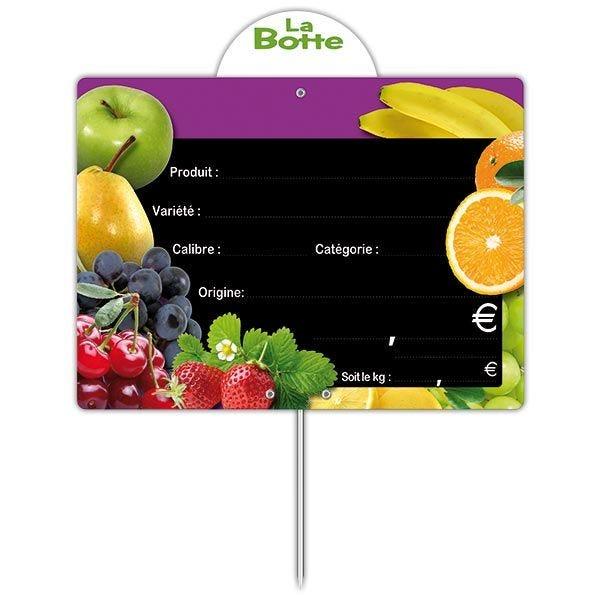 Etiquette panière fruitée vocc à pique 20 x 15 cm - par 30 (photo)