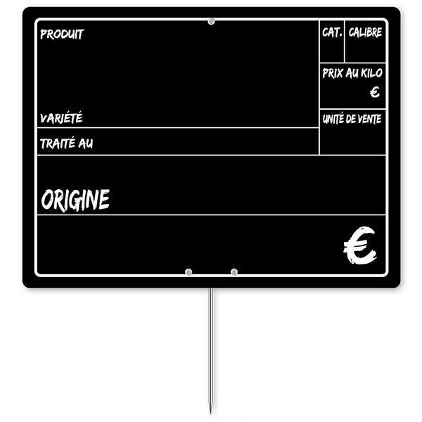 Etiquette primeur 20 x 15 cm à pique - par 30 (photo)