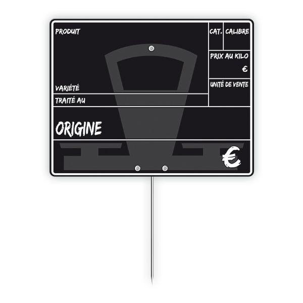Etiquette primeur à pique 15 x 10 cm - par 50 (photo)