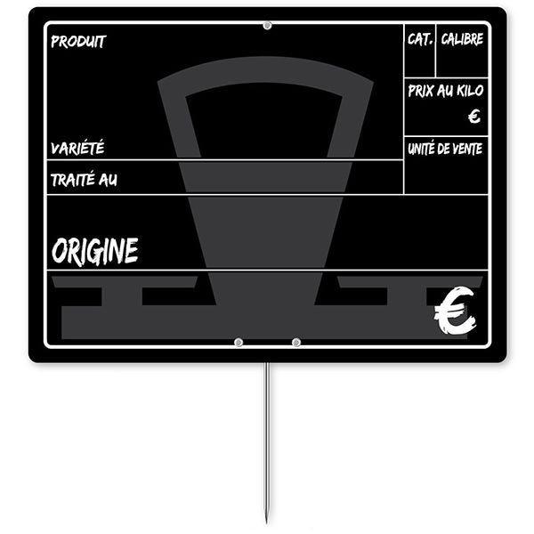 Etiquette balance 20 x 15 cm à pique - par 50 (photo)
