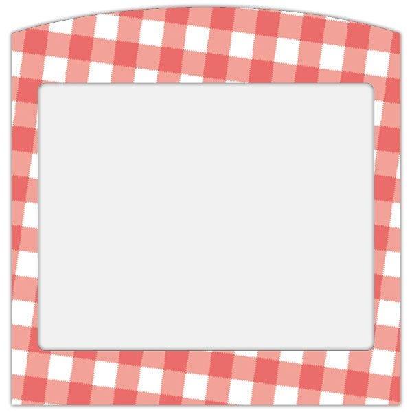 Etiquette imprim'etiq carreaux normands rouges - par 30 (photo)