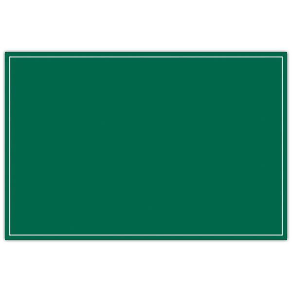 Etiquette ardoisine verte à liseré 10 x 15 cm - par 50 (photo)