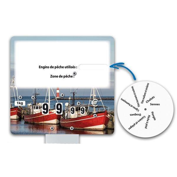 Etiquettes trad'etiq bleues chalut xl à roues et à pique glace - par 10 (photo)