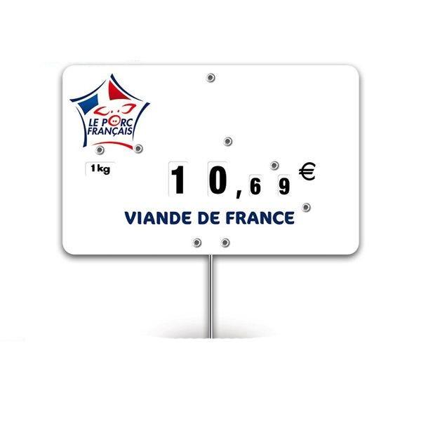Etiquettes trad'etiq n°3 le porc français, logo viande française - par 10 (photo)