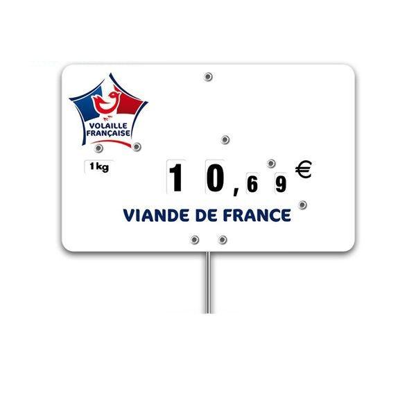 Etiquettes trad'etiq n°3 volaille, logo viande française - par 10 (photo)