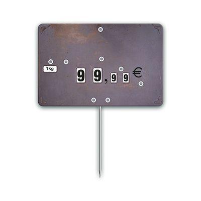 Etiquettes trad'etiq n°2 industrie impression métal à pique 10,6x7 cm - par 10 (photo)