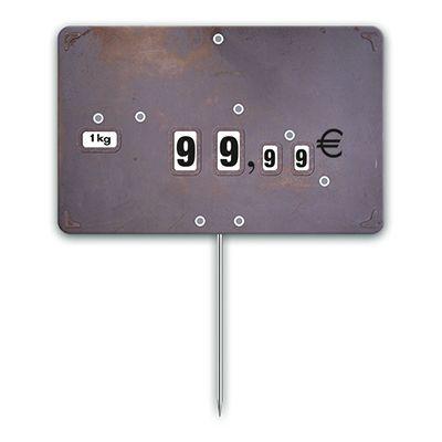 Etiquettes trad'etiq n°3 industrie impression métal à pique 12,6x8 cm - par 10 (photo)