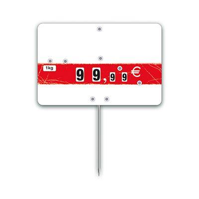 Etiquettes trad'etiq n°2 nostalgie bandeau rouge à pique 10,6x7 cm - par 10 (photo)
