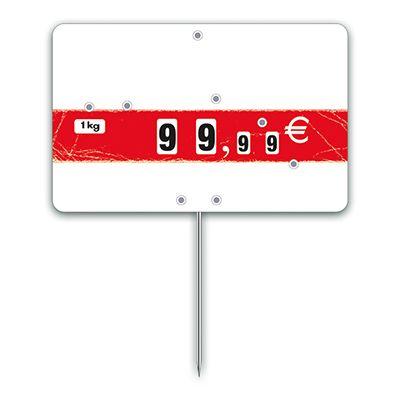 Etiquettes trad'etiq n°3 nostalgie bandeau rouge à pique 12,6x8 cm - par 10 (photo)