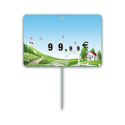 Etiquettestrad'etiq n°2 nostalgie prairie à pique 10,6x7 cm - par 10 (photo)