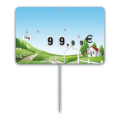Etiquettes trad'etiq n°3 nostalgie prairie à pique 12,6x8 cm - par 10 (photo)