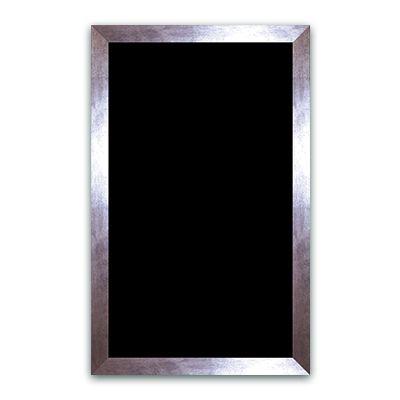 Ardoise noire vierge métal 50x80 cm (photo)