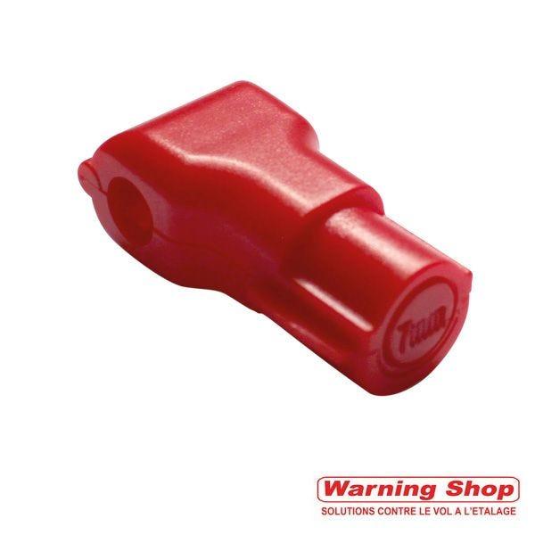 Stop broches 7 mm rouge - par lot de 100