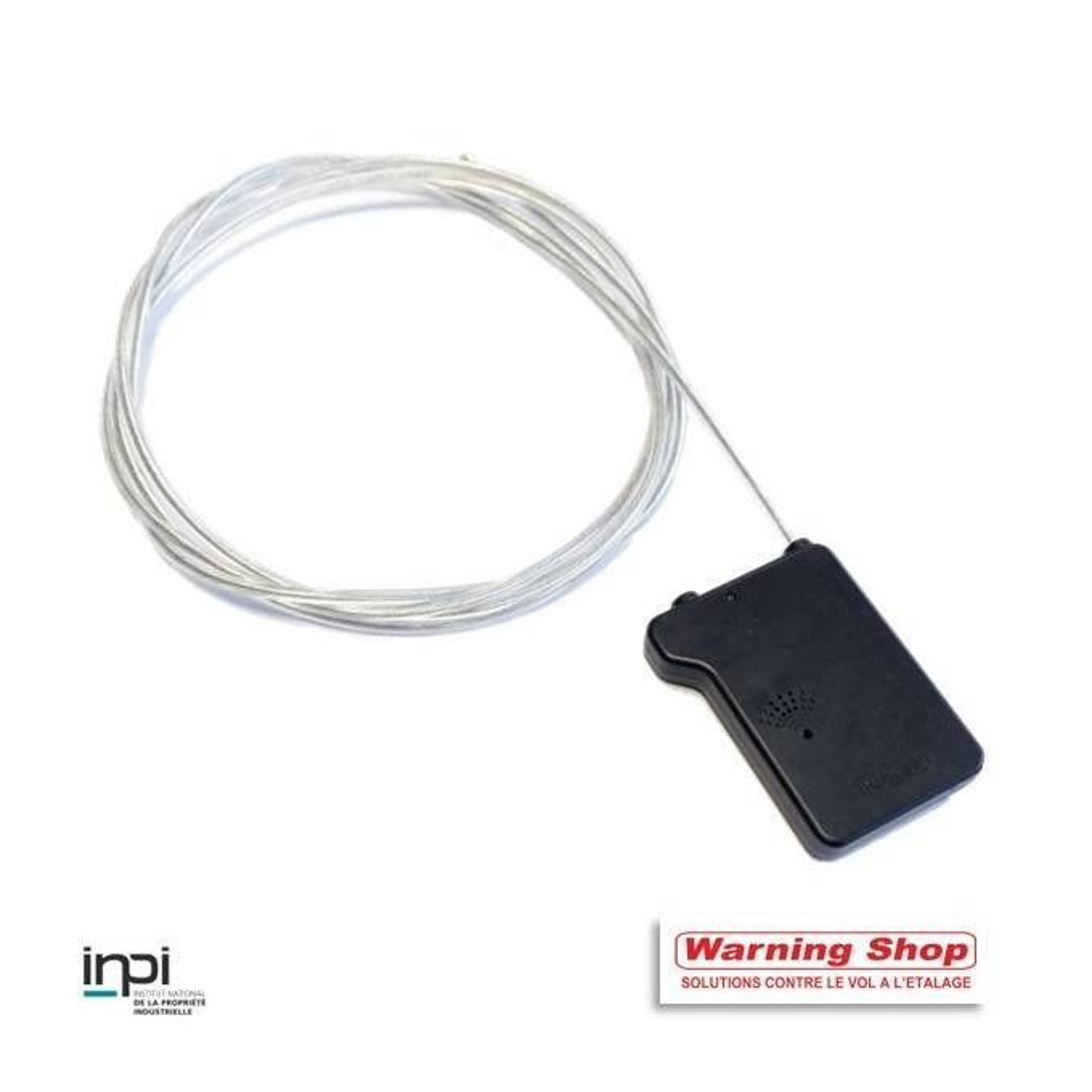 Antivol macaron cadenas rf câble 2 alarmes 120 cm verrou super par 50 unités (photo)
