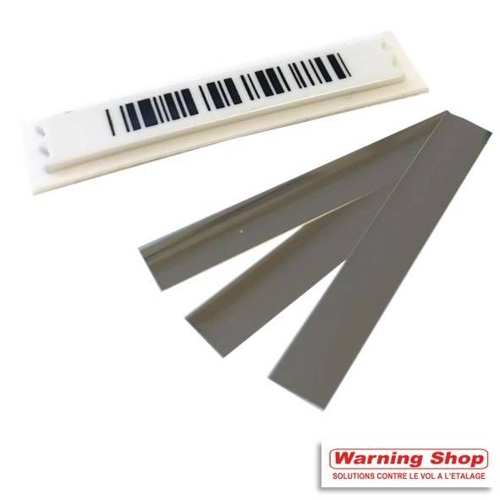 Antivol étiquette adhésive faux code barre désactivable 10x40 mm par 5000 unités (photo)