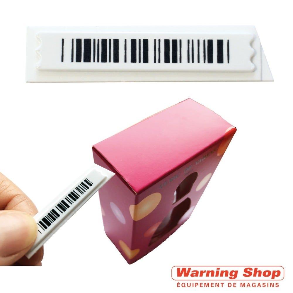 Antivol étiquette non adhésive faux code barre 10x40mm désactivable - par 5000 (photo)