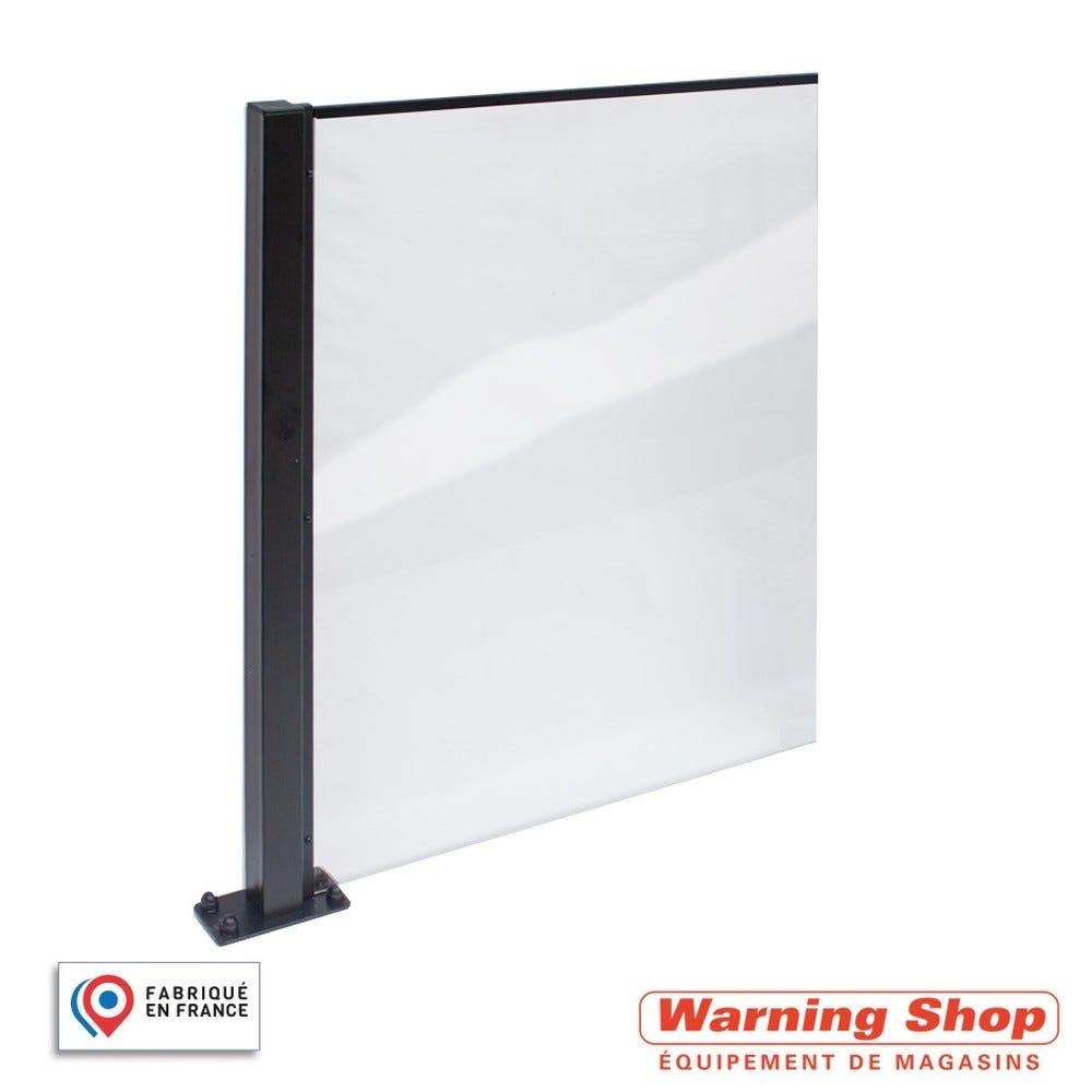 Complément kit poteaux et panneau bas - plexi transparent pour cloison (photo)
