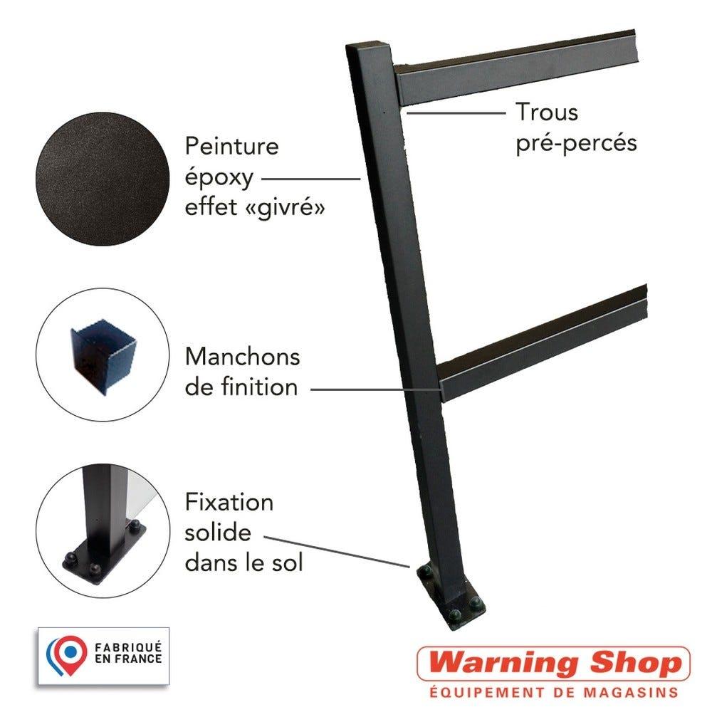 Complément poteau et barres de guidage 50 cm - black (photo)