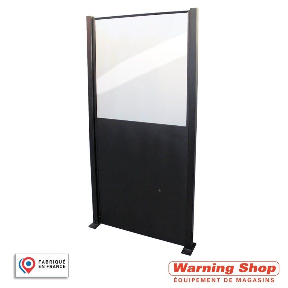 Kit poteaux et panneau mixte haut - plexi et panneau pour cloison (photo)