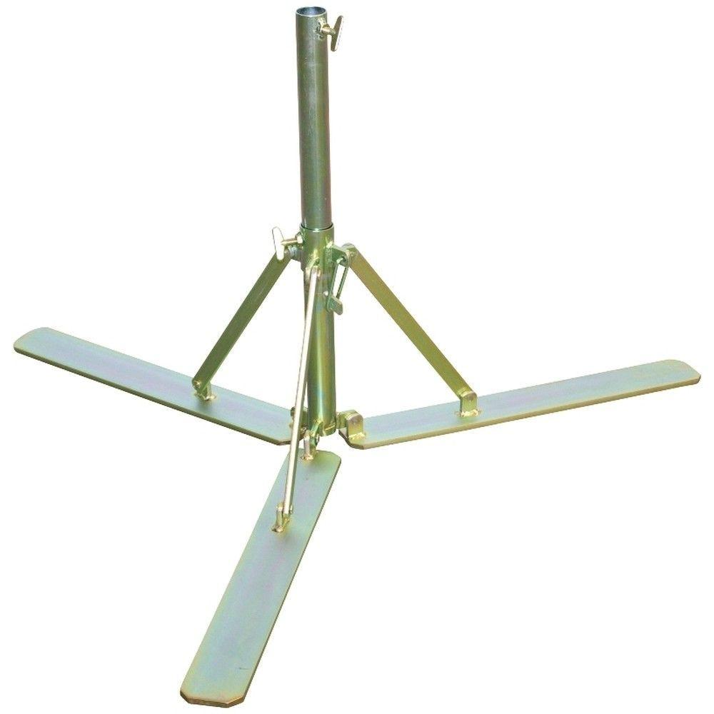 Pied plat lourd pour parasol forain de 15 kgs (photo)