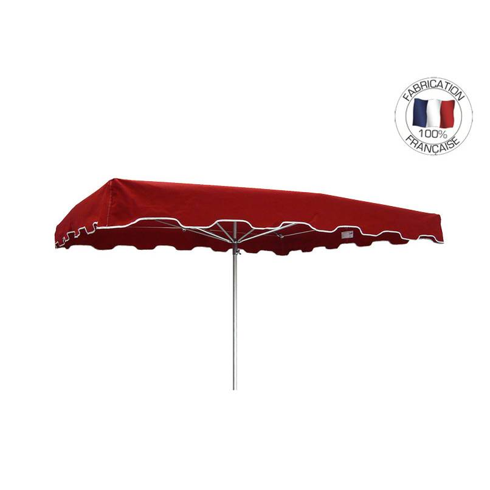 Parasol forain 300x300cm Rouge - armature télescopique + toile + housse