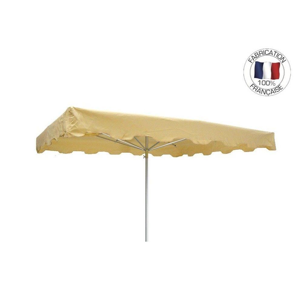 Parasol forain 350x250cm Ivoire - armature télescopique + toile + housse