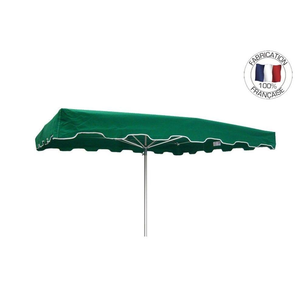 Parasol forain 400x300cm Vert - armature télescopique + toile + housse