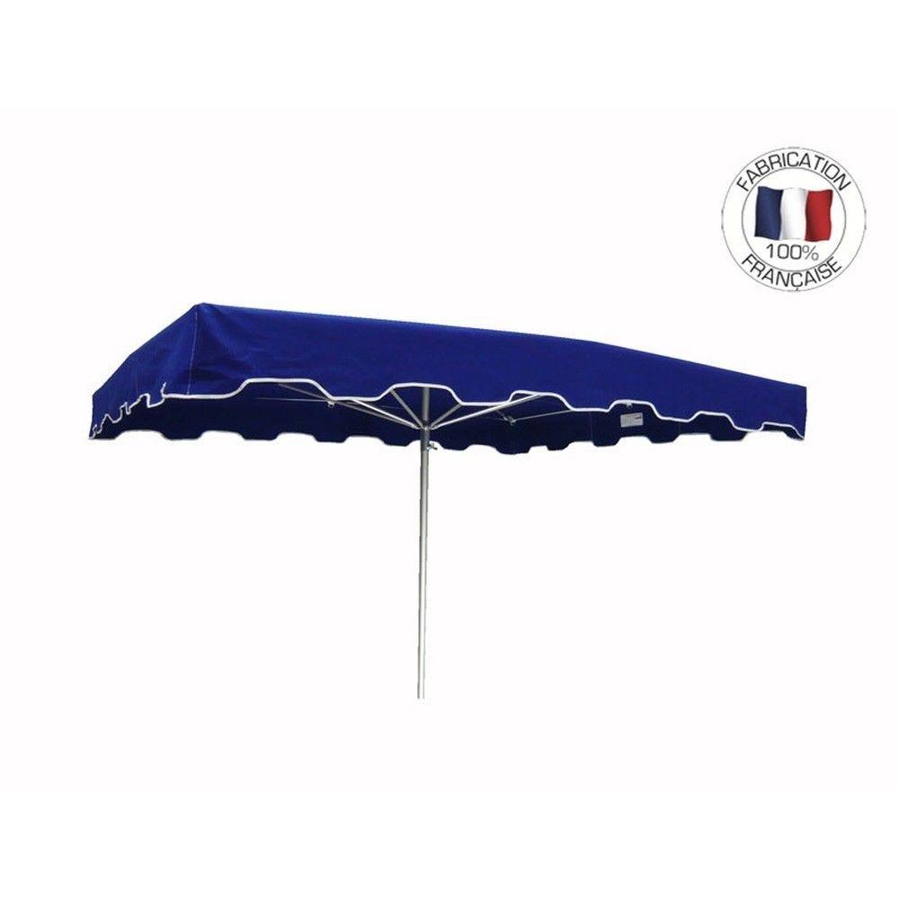 Parasol forain 400x300cm Bleu - armature télescopique + toile + housse