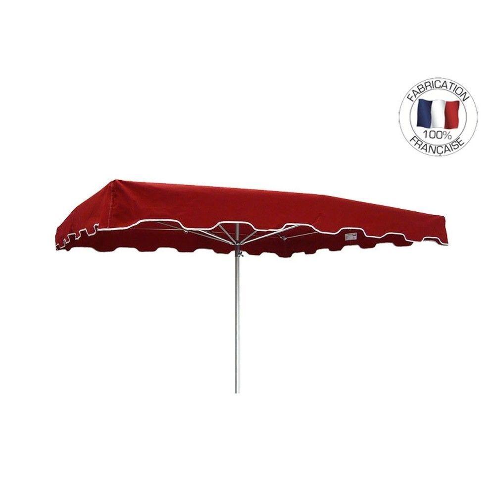 Parasol forain 400x300cm Rouge - armature télescopique + toile + housse