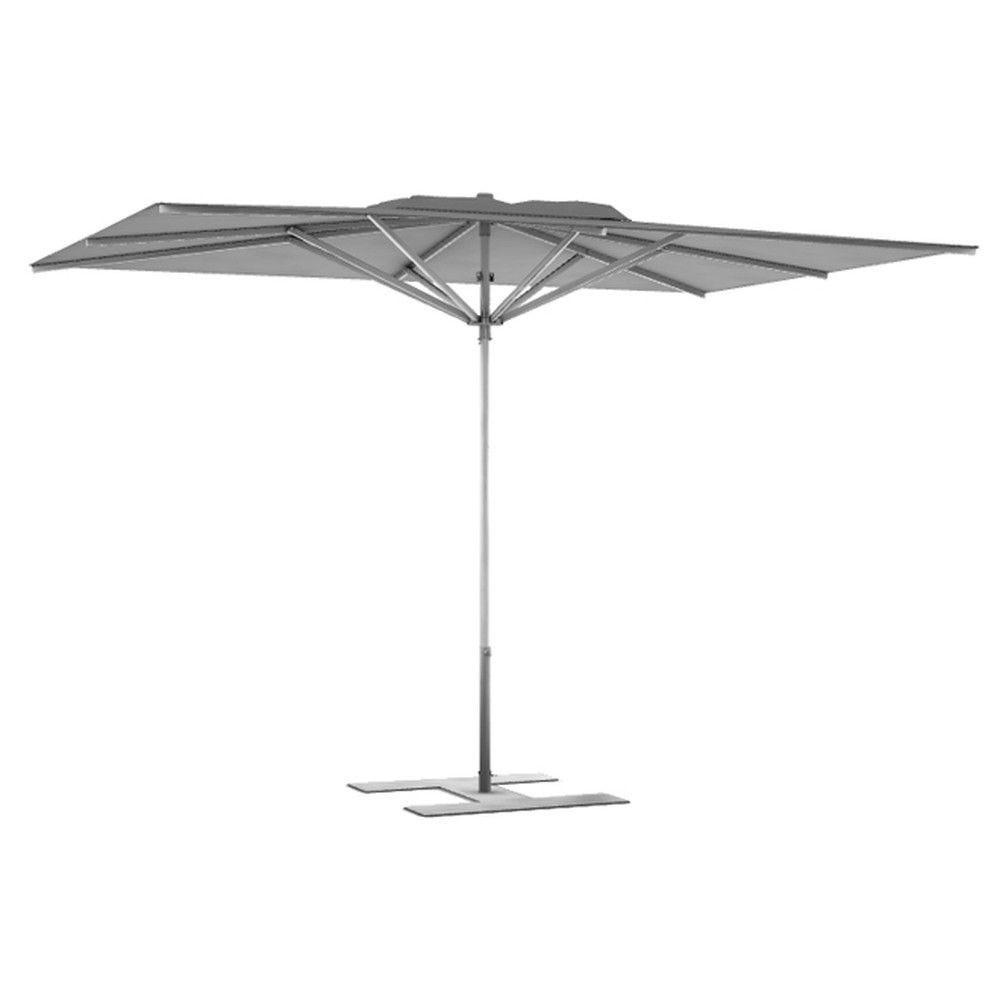 Parasol terrasse Prémium Gris 3x2,50 m montant gris (photo)