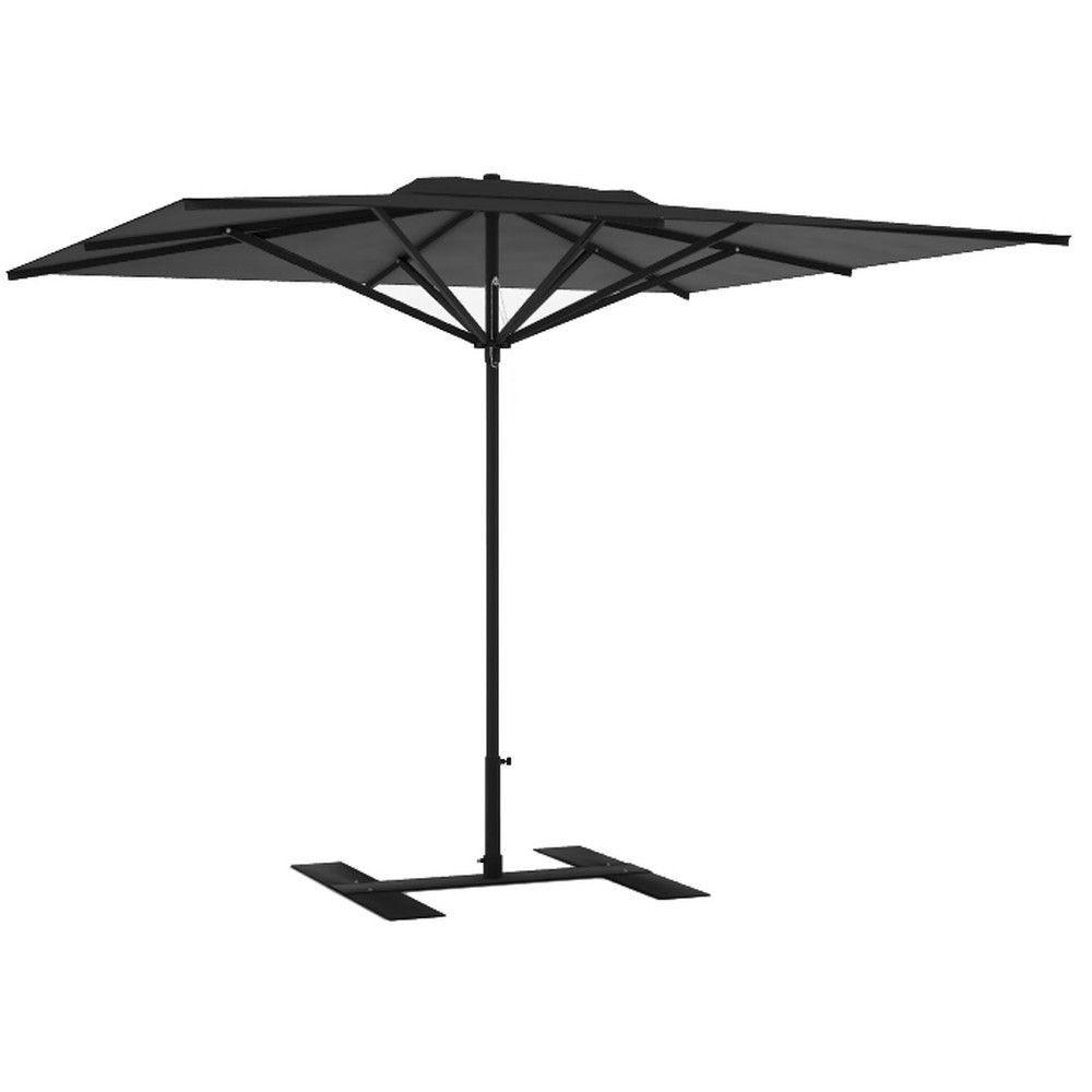 Parasol terrasse Privilège anthracite 3x3 m montant noir