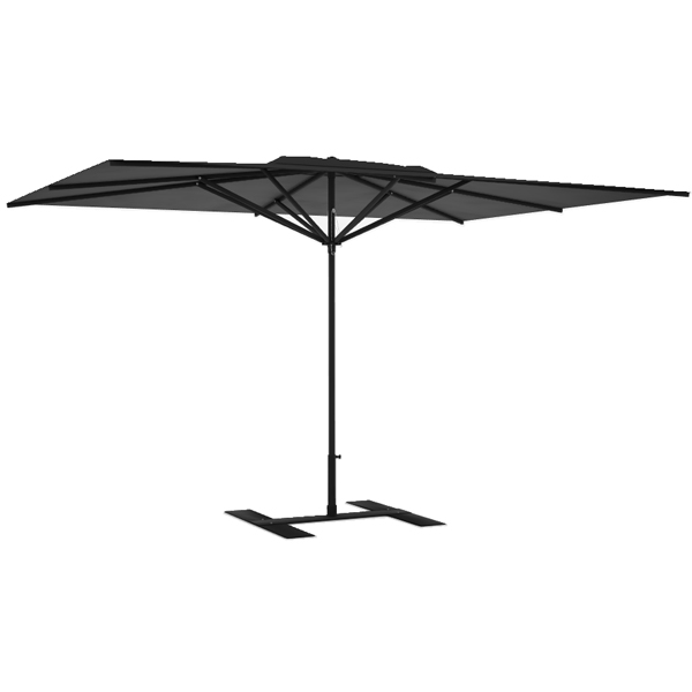 Parasol terrasse Privilège anthracite 4x3 m montant noir