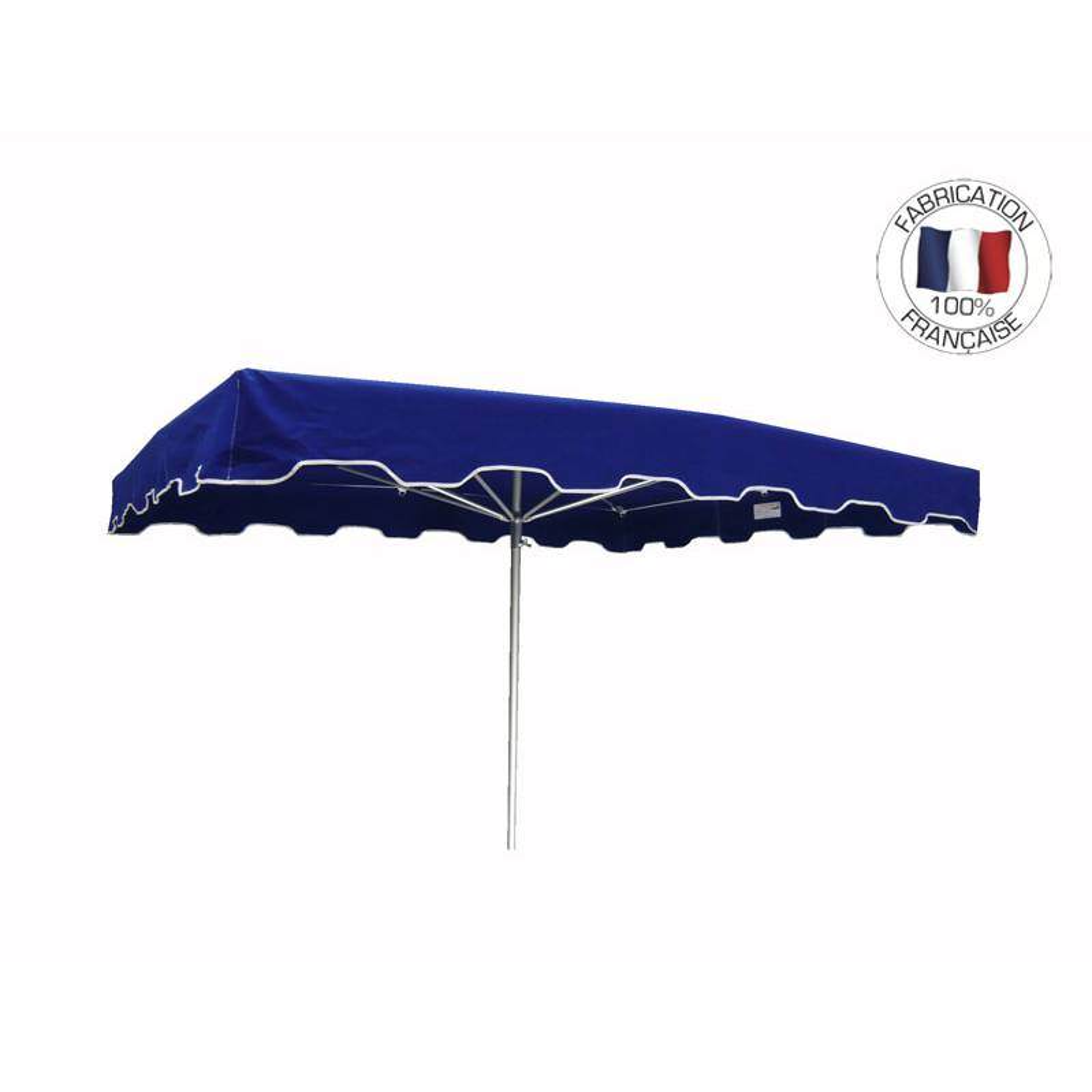 Parasol forain 350x300cm Bleu - armature télescopique + toile + housse