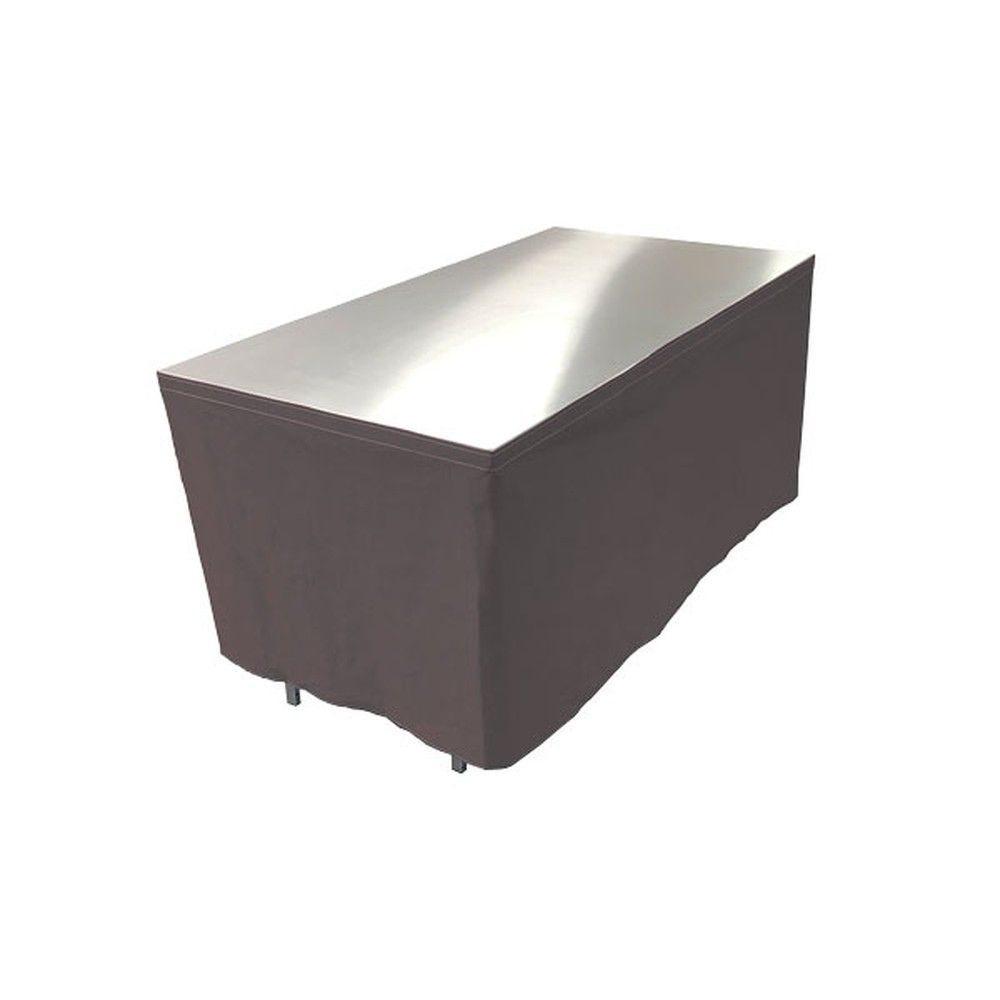 Table en aluminium 150x85cm. + habillage anthracite