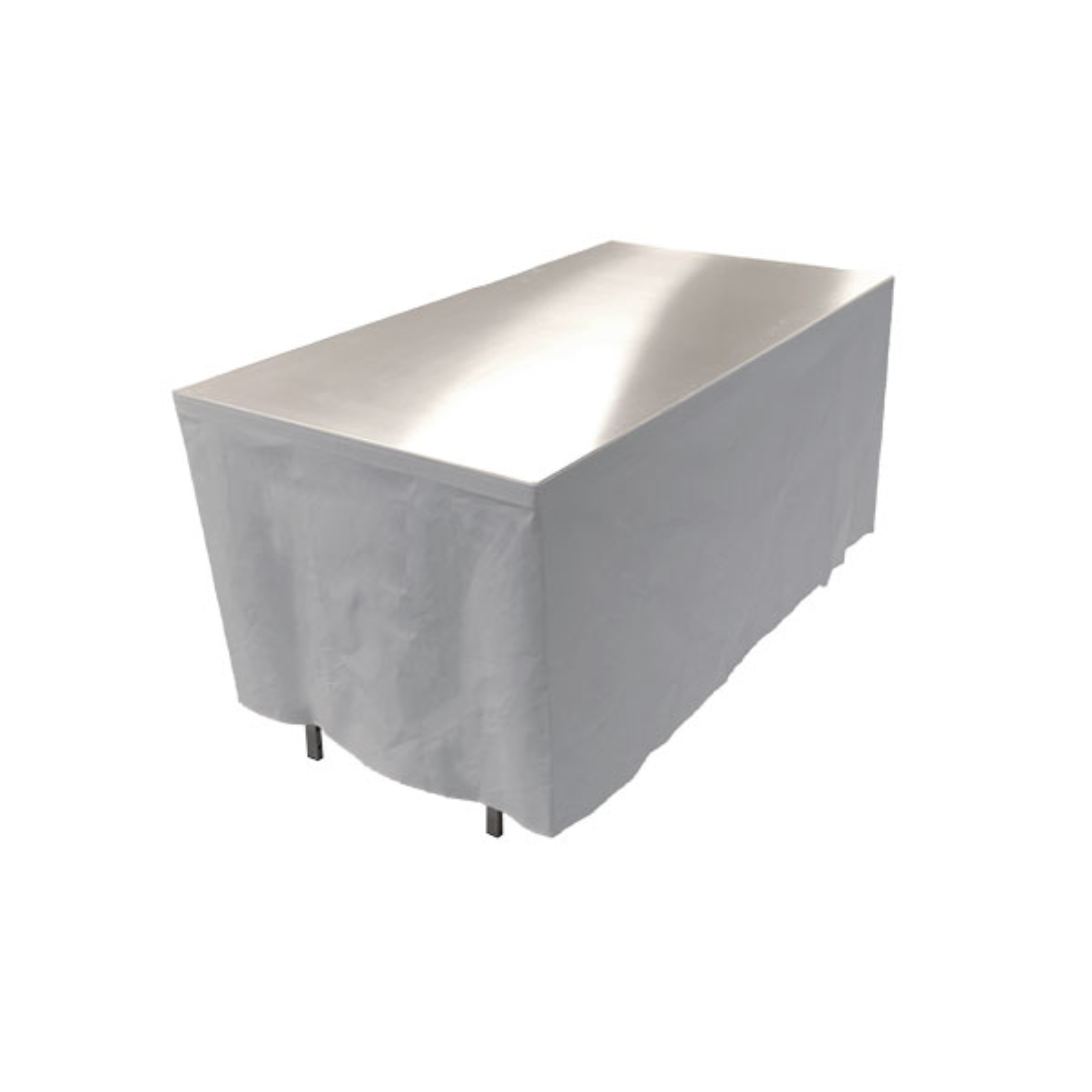 Table en aluminium 150x85cm. + habillage gris