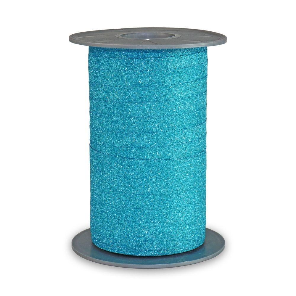 Bolduc pailleté 10 mm x 100 m turquoise